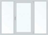 Пластиковое окно трехстворчатое поворотно-откидное правое (Plafen) 1800x1400