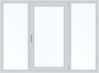 Пластиковое окно трехстворчатое поворотно-откидное правое (Plafen) 2050х1450