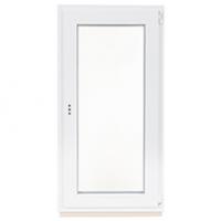Пластиковое окно одностворчатое поворотное-откидное правое (Ortex) 600х1200