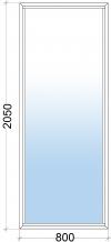 Алюминиевое окно 800х2050