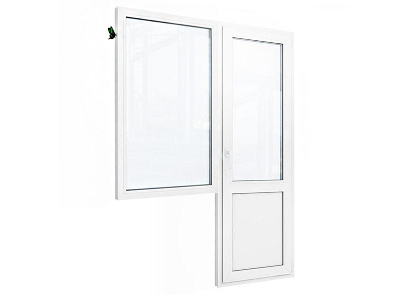 Балконный блок: окно с балконной дверью с глухой нижней частью