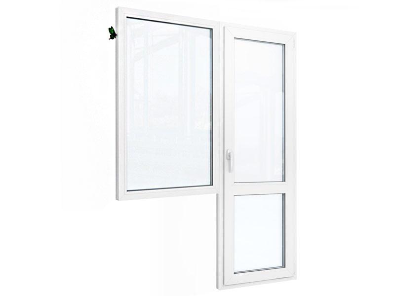 Балконный блок: окно с балконной дверью с перемычкой