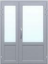 Входная дверь 1300х2100, сэндвич, стекло