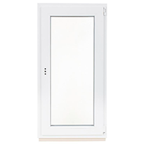 Окно ПВХ одностворчатое 1200х600 поворотно-откидное правое